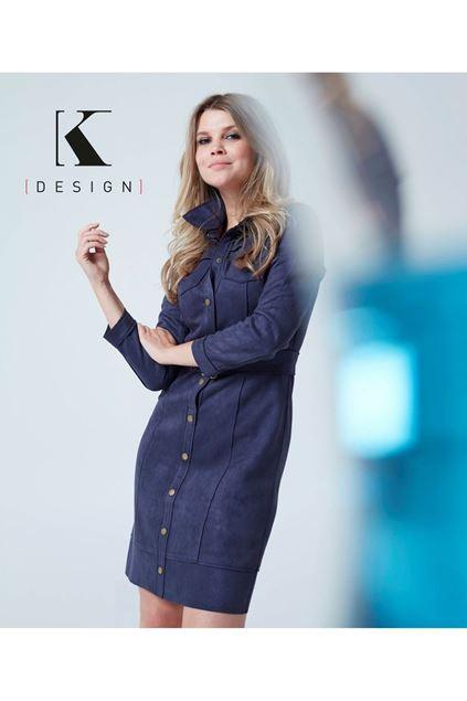 Jurk - K-design - R554 - Indigo