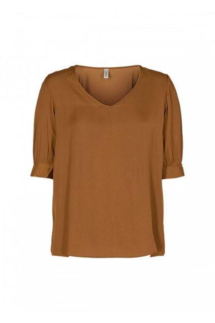 soyaconcept - blouse - pamela - dark caramel
