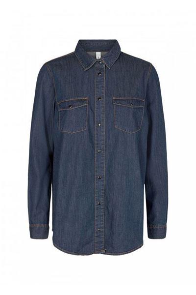 soyaconcept - shirt - killa 2 - denim blue