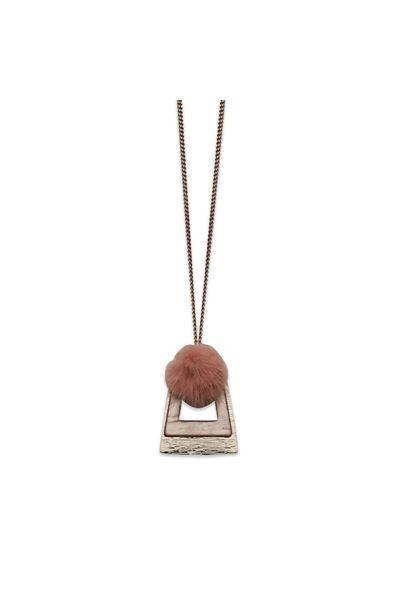 Les Cordes - Halsketting - Carabo -  Vieux Roze