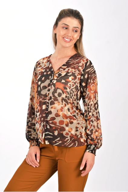 soyaconcept - shirt - karita 2 - dark caramel