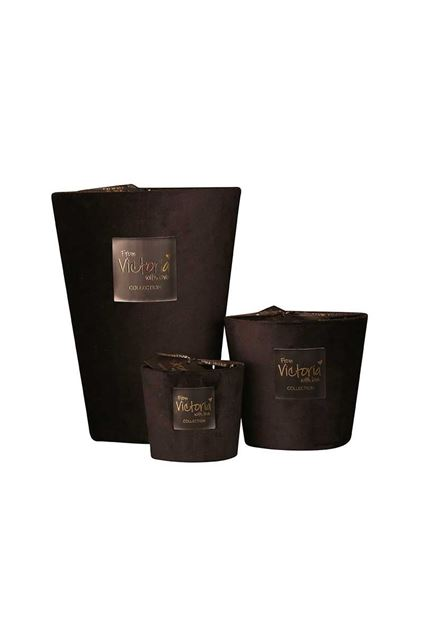 Kaars - Victoria with love - Velvet - Black - Medium