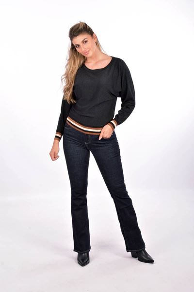 Broek - Selected by My Wish - RD5839 - Donkergrijs