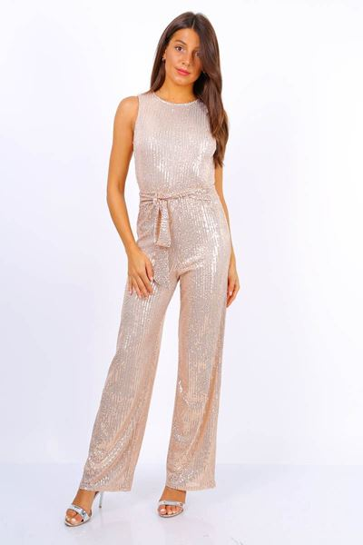 Jumpsuit - Selected by My Wish - Glitter jumpsuit  Champagne