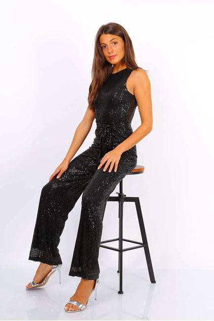 Jumpsuit - Selected by My Wish - Glitter jumpsuit Zwart