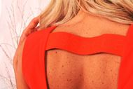 Jurk - Guess - W1GK0S - Oranje/rood