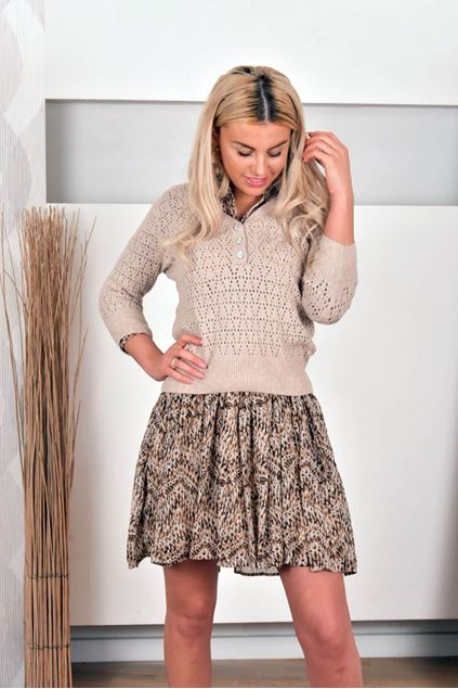 Sweater - Vila - Vialassa - natural