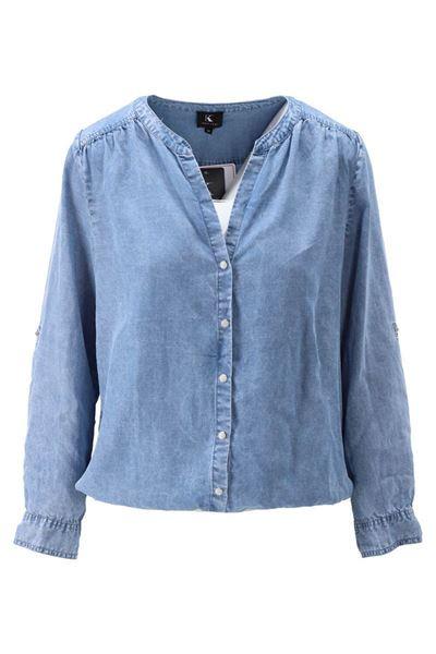 Blouse - K-design - S926 - Blue jeans