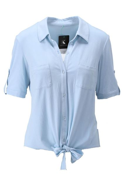 Blouse - K-design - S933 - Light blue