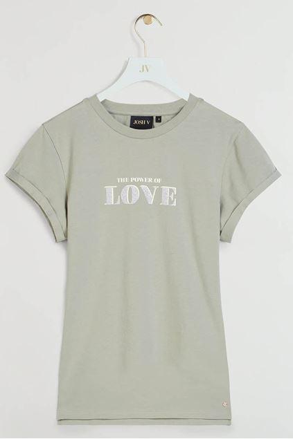 T-shirt - Josh V -  Dora - Stone green