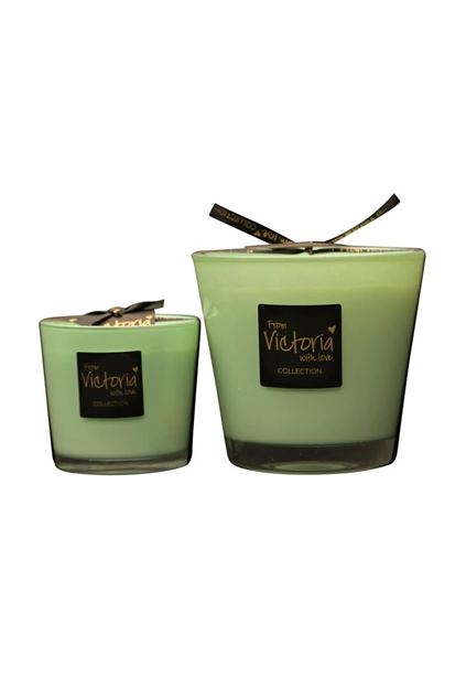 Kaars - Victoria with love - Glossy green - Small