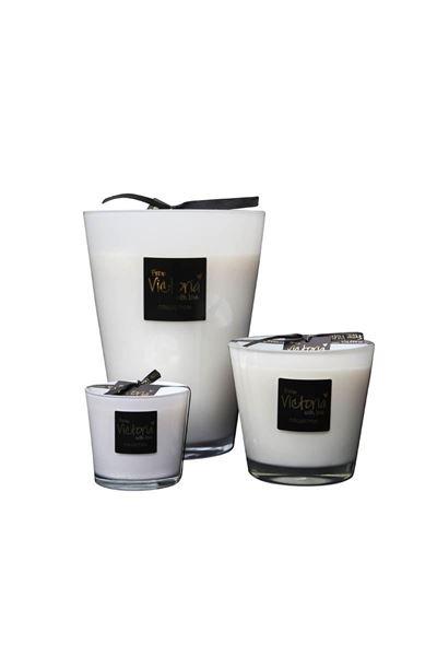 Kaars - Victoria with love - Glossy white - Medium