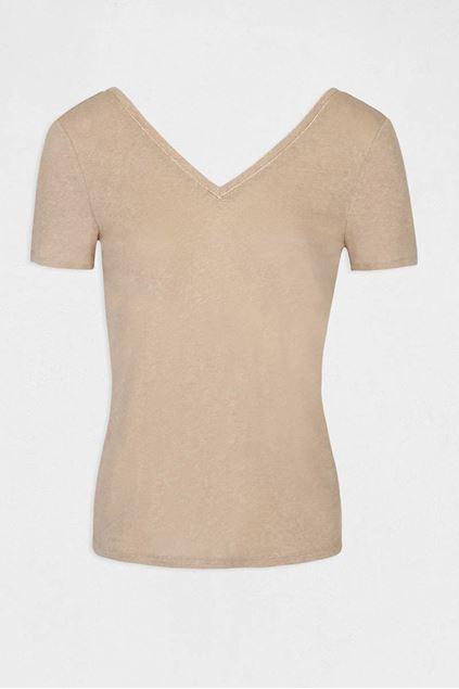 T-shirt Morgan - Dula - Chamois