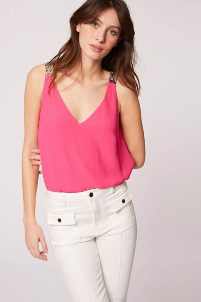 Top - Morgan - Oveti - Fuchsia