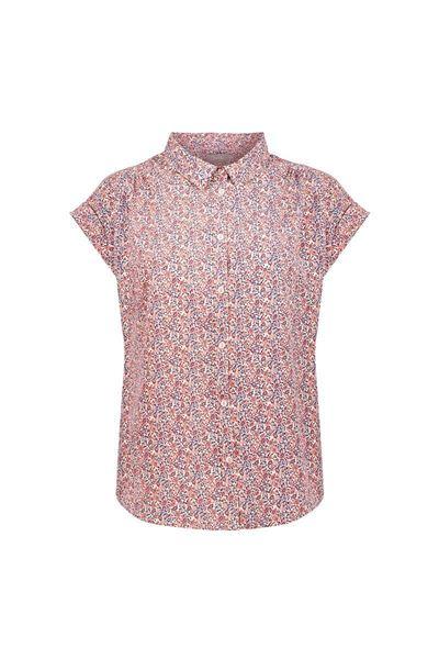 Geisha - shirt - 13097-21 - pink/blue/ecru