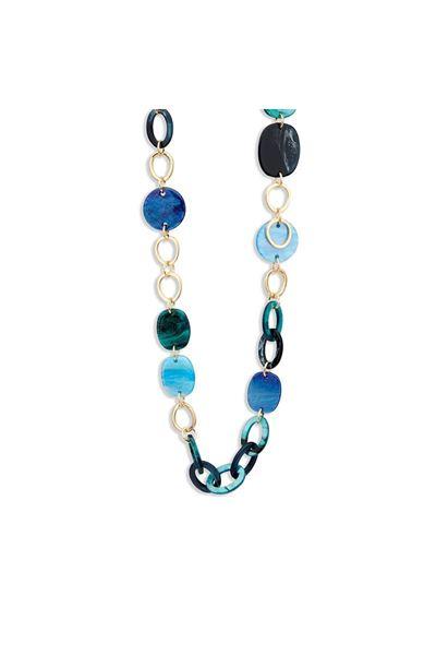Halsketting - Les Cordes - Kiona - blauw