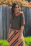 T-shirt - Vila Joy - Godiva - khaki