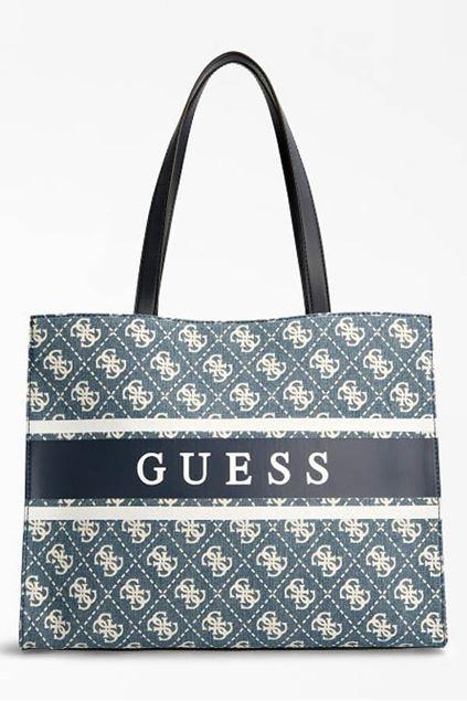 Handtas - Guess - Monique - Denim/Blue