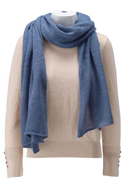 Sjaal - K-design - T519 - faded blue